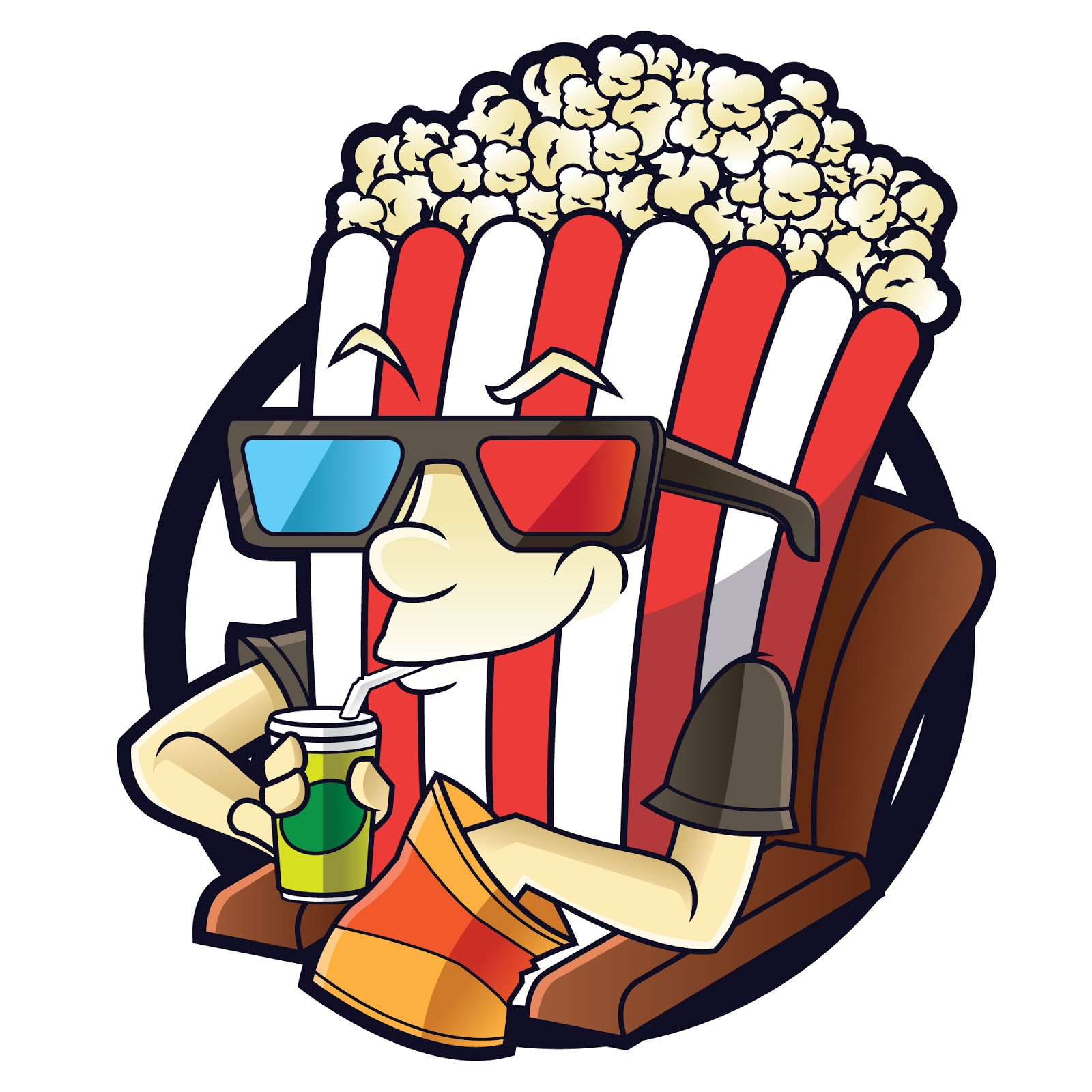 Popcorn Guy Free Download Vector CDR, AI, EPS and PNG Formats