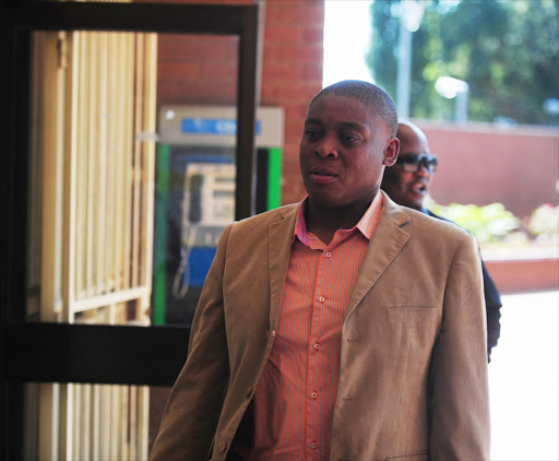 Renowned actor Rapulana Seiphemo at the Roodepoort Magistrate's court on February 18, 2013 in Johannesburg, South Africa. Seiphemo was arrested after he allegedly slapped a female friend, Mphowarona Motsaathebe. The charges against him were withdrawn.