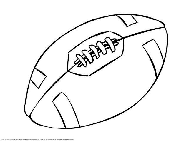 American Football Ball Coloring Page Printable Football