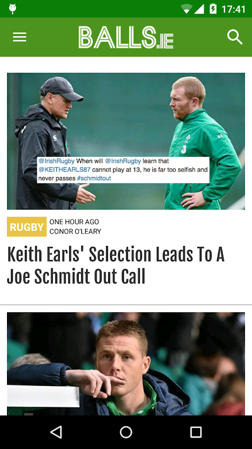 Balls.ie, Just Brilliant Sport- screenshot