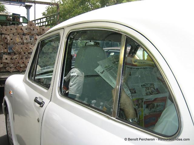 La mythique voiture Ambassador, Delhi