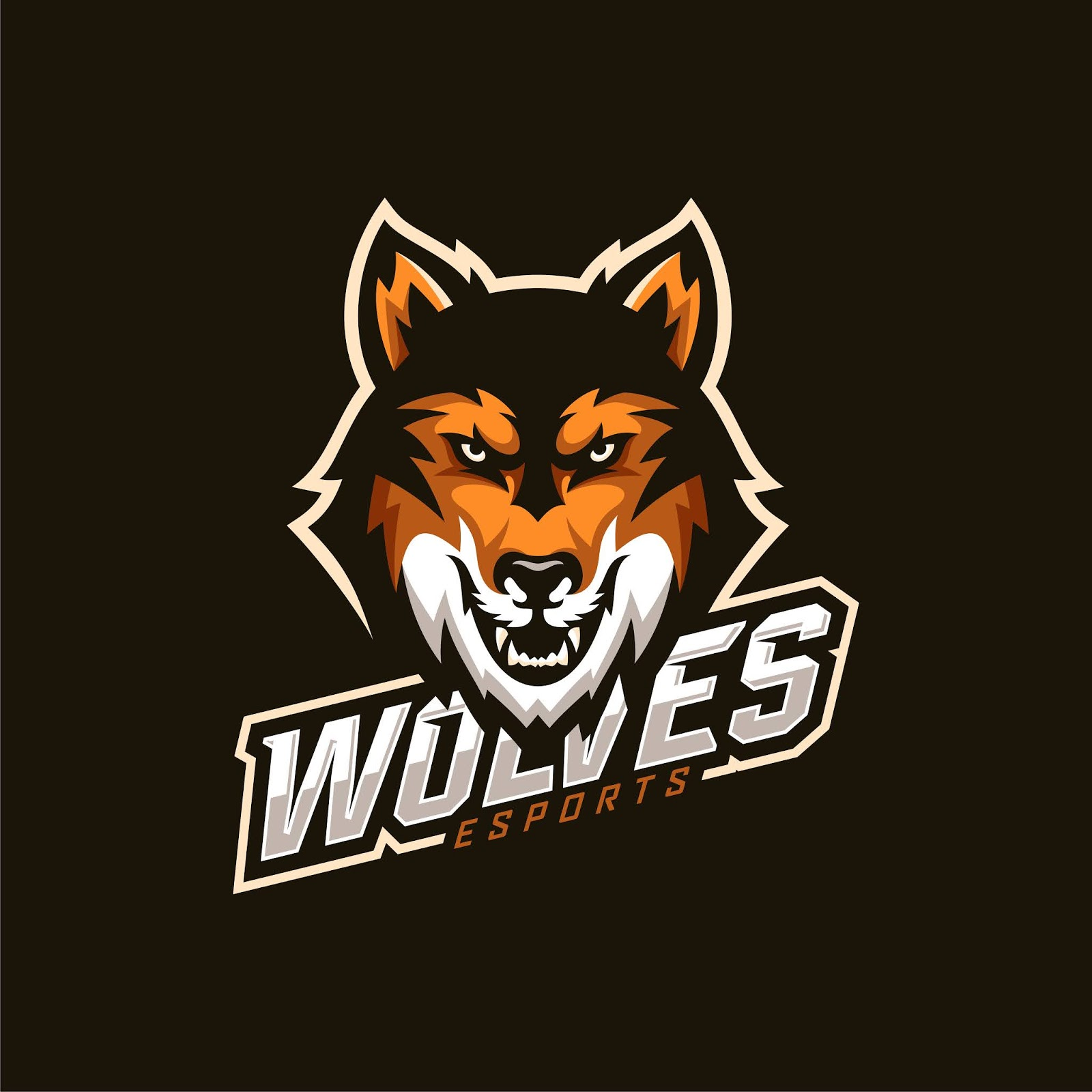 Wolf Head Esport Mascot Logo Free Download Vector CDR, AI, EPS and PNG Formats