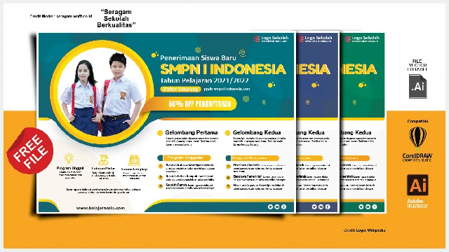 Download BRosur Keren Penerimaan Siswa Baru SMP Gratis (1)