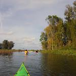 050-We paddelen door het mooie Noordwaard vaarwater.