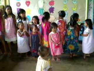 Video: A song and dance number by the children of CDO in appreciation of the dresses they each received Part 1