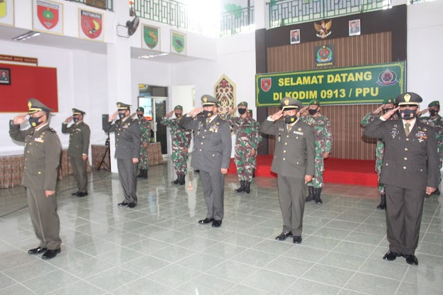 Kodim 0913/PPU Ikuti Upacara Peringatan Hari Lahir Pancasila Secara Virtual Di Jakarta