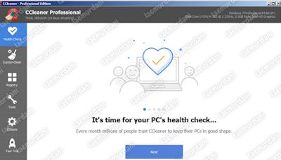 aplikasi ccleaner untuk membersihkan file sampah di laptop
