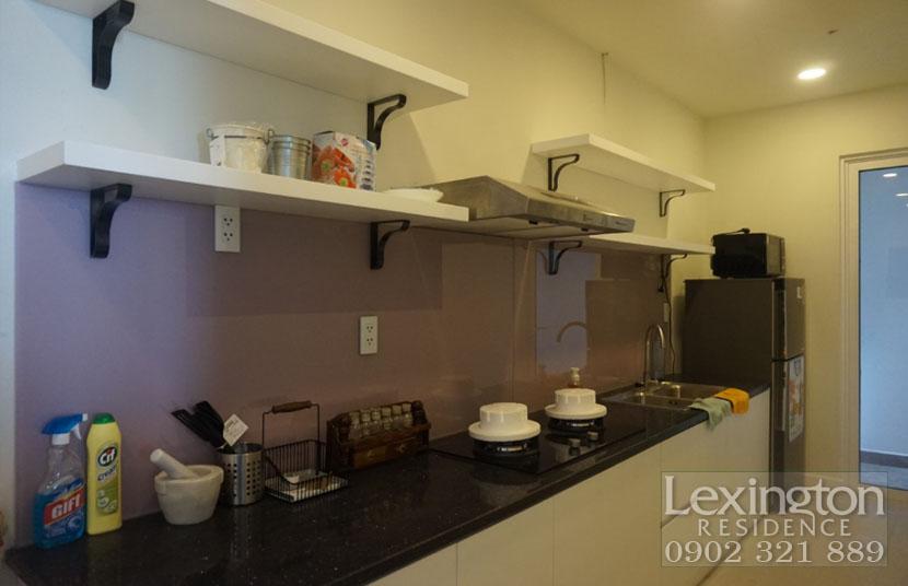 không gian khu bếp căn hộ Lexington cho thuê