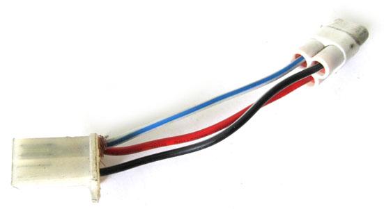 Подсоедините электрические разъёмы в соответствии со схемой, при необходимости применяя переходные разъёмы, либо заменив новые разъёмы на старые.