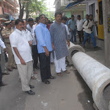 Foundation Stone Laying for Drainage Work in Tyagarajnagar 06-09-2012
