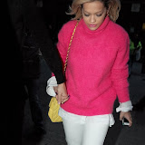 WWW.ENTSIMAGES.COM -  Rita Ora and boy friend Calvin Harris  arriving at     Daft Punk Listening Party May  London 13th 2013                                                    Photo Mobis Photos/OIC 0203 174 1069