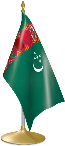 Turkmen table flags - desk flags