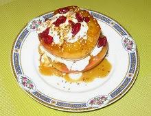 Pommes au miel, sésame et cranberries