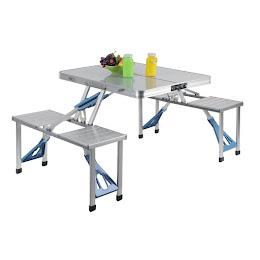 Masa pliabila picnic tip geamantan - Model aluminiu