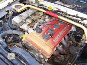 Abandoned Nissan Engine Bay
