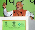New Delhi: Prime Minister, Narendra Modi addresses during the 6th World Ayurveda Congress & Arogya Expo, at Pragati Maidan, in New Delhi on Nov 9, 2014. (Photo: IANS)