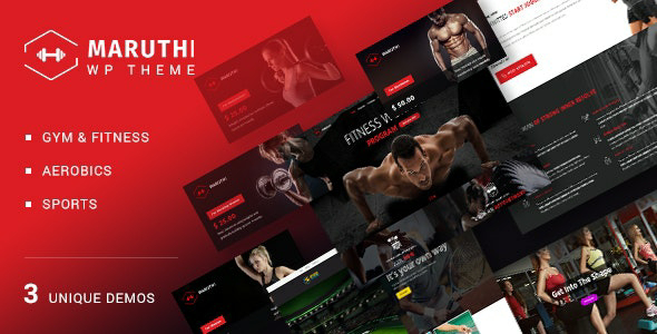 Maruthi Fitness v1.7 – Fitness Center WordPress Theme