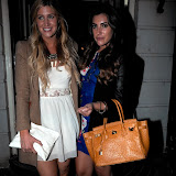 WWW.ENTSIMAGES.COM -    Cheska Hull  and Gabriella Ellis    at     Claire's - launch party at Kettners, 29 Romilly Street, London April 24th 2013                                                  Photo Mobis Photos/OIC 0203 174 1069