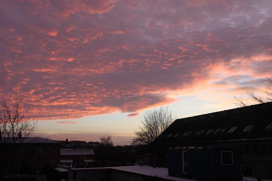 Fantastisk nytårs-himmel over Aarhus