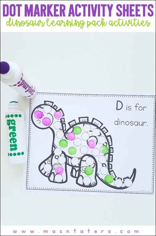 Dinosaur Dot Marker Sheets