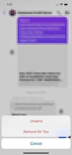 حذف مجمع Facebook Messenger Ios