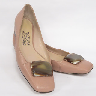 Salvatore Ferragamo Blush Low Heels