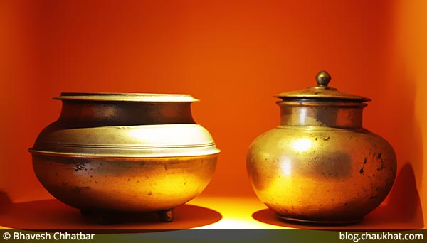 2 antique vessels at Savya Rasa [Koregaon Park, Pune]
