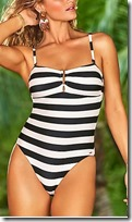 Marks and Spencer Striped Bandeau Swimsuit