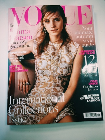 Emma Watson on the cover of Vogue UK September 2015 issue
