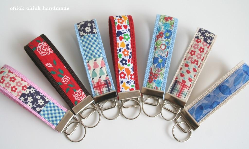 chick chick sewing key fobs for fundraiser