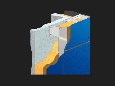 Esquema de fachada ventilada Priplastic