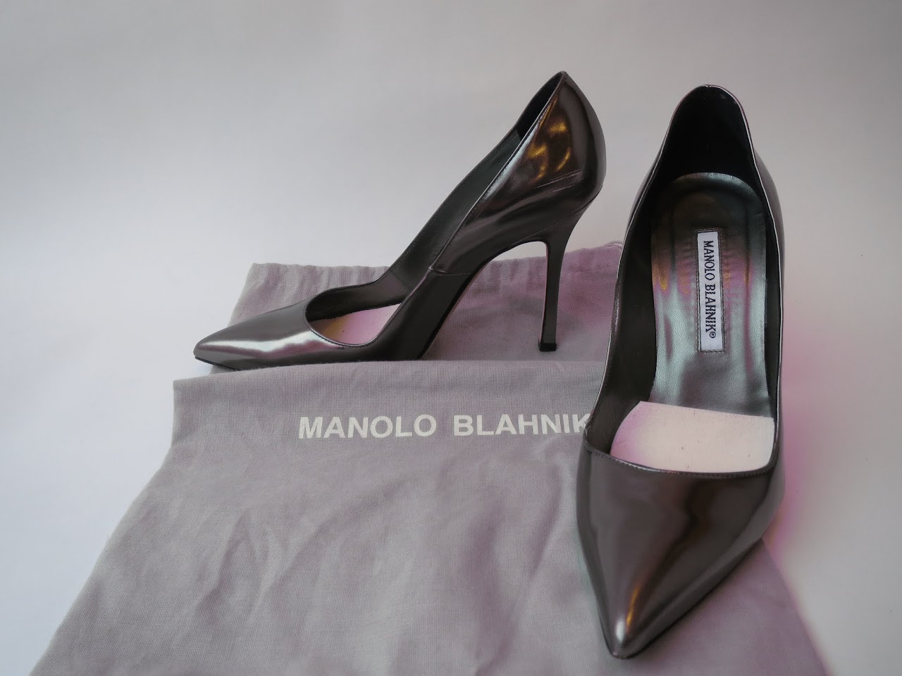 Manolo Blahnik Steely Pumps
