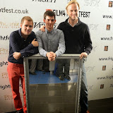 WWW.ENTSIMAGES.COM -     Nate Fallows (The C-Word), Joshua Dickinson (Holby City) and Director Ed Boase (Bloodied)    arriving at THE MIRROR premiere   DAY 3 -  Film 4  FrightFest at Vue West End London August 23rd  2014                                                Photo Mobis Photos/OIC 0203 174 1069