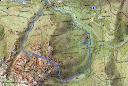 Carte du massif des Signori et du Capu d'Ortu avec le parcours des ravins Nord