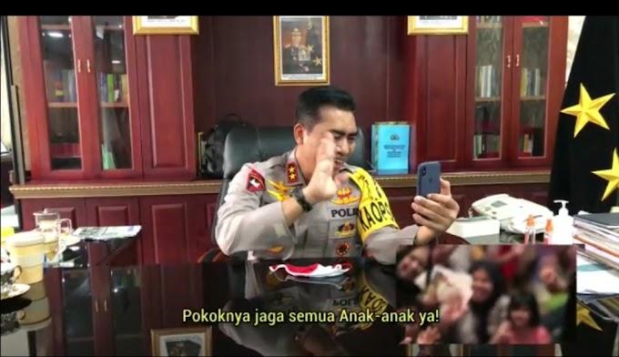 Viral.., Kapolda Aceh Videocall Dengan Seorang Anak Yang Berjuang Melawan Sakit