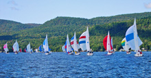 J/22 one-design sailboats- sailing Lake George, NY