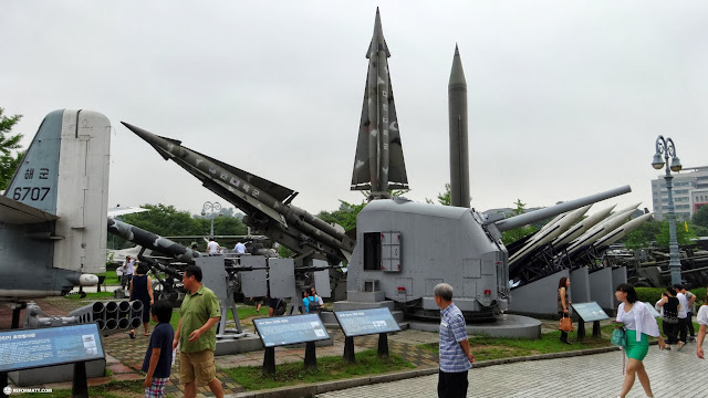 the rocket park at War Memorial of Korea in Seoul in Seoul, Seoul Special City, South Korea