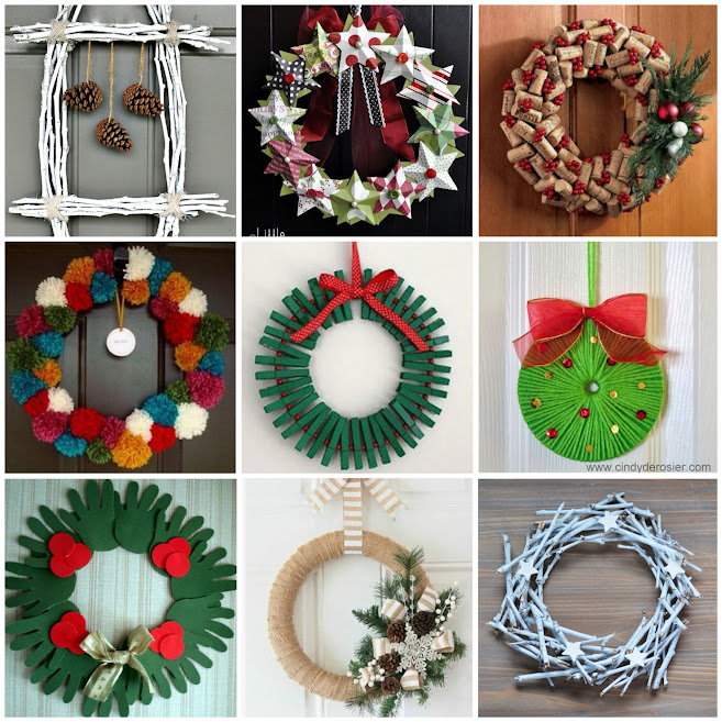 Adornos-puertas-navidad-diy-manualidades-decoración-casa