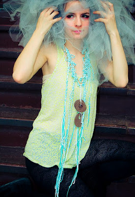Clouds Dreaming Impossible Dreams Statement Necklace by Elizaveta Yankelovich