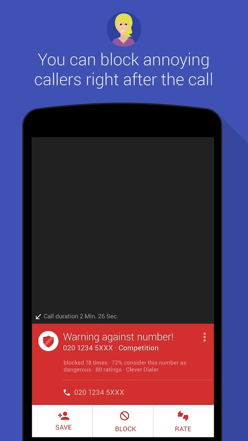 Clever Dialer - spam caller ID- screenshot