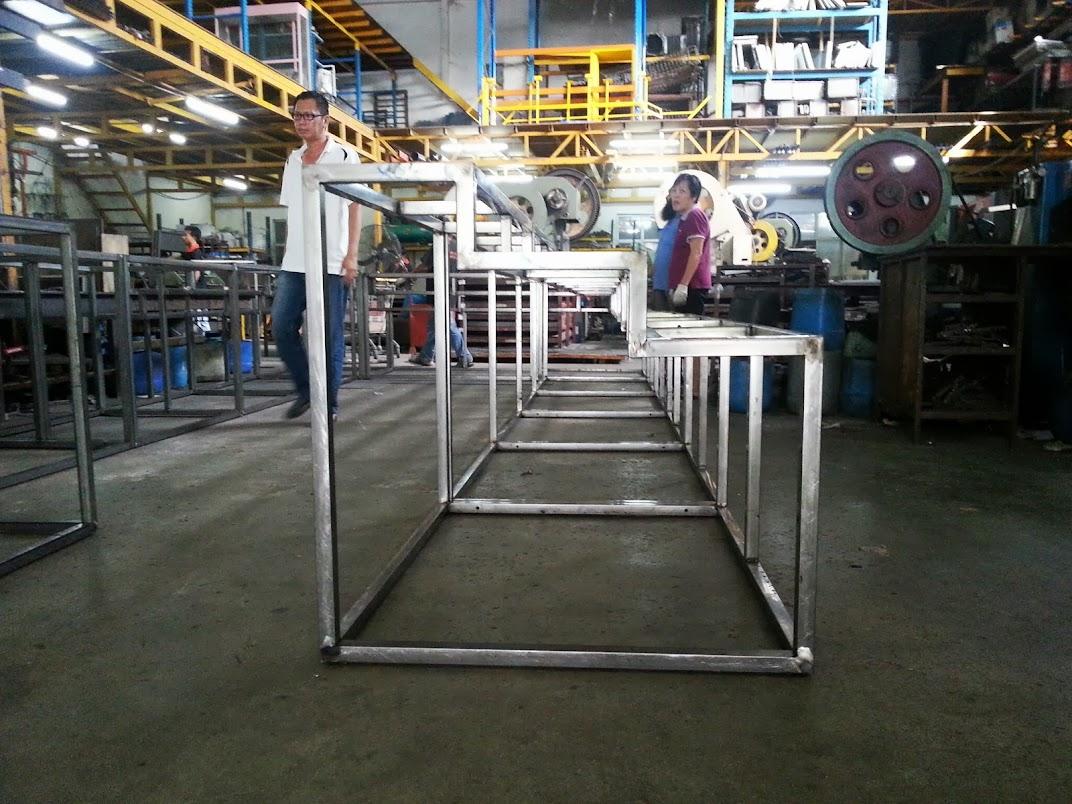 island counter metal frame