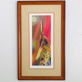 Signed Eiffel Tower Lithograph
