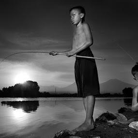 fishing time by Arief Siswandhono - Babies & Children Children Candids