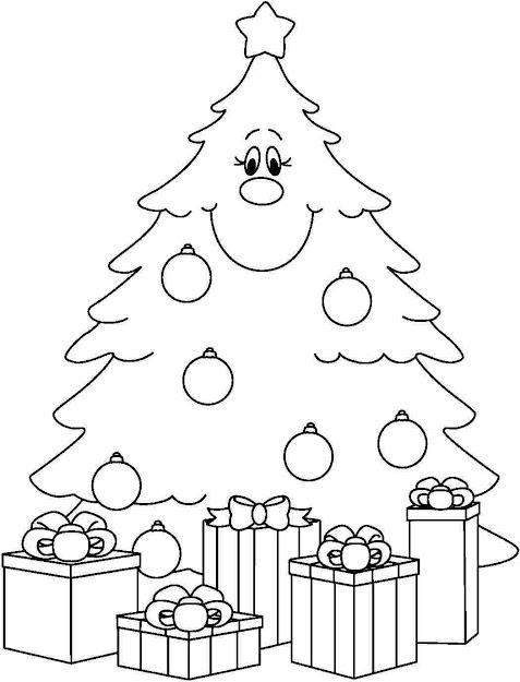 Christmas Tree Coloring Page For Kids Printable