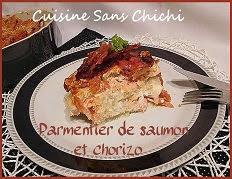 Parmentier de saumon et chorizo