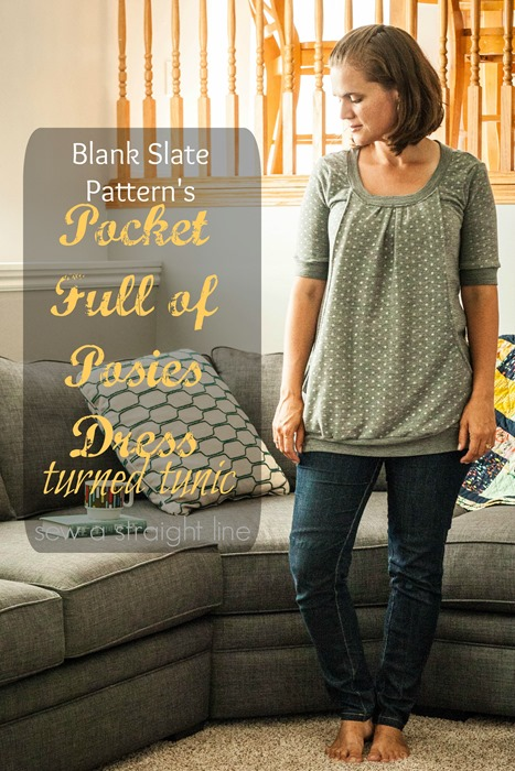 Pocket Full of Posies Dress Sewing Pattern by Blank Slate Patterns sewn by Sew a Straight Line