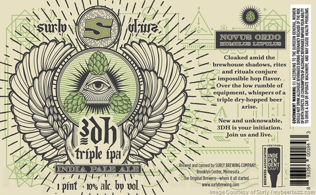 Surly Adding 3DH Triple IPA 16oz Cans