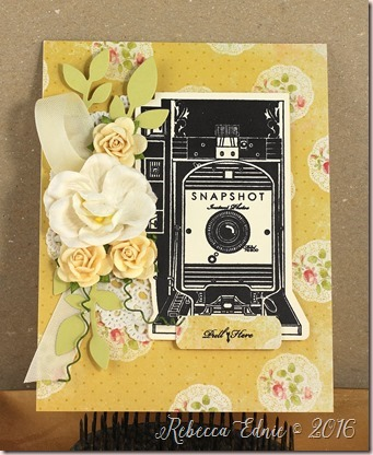 floral camera yellow