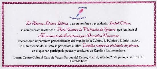 Acto contra la violencia de género en Madrid. 23 jun 2012