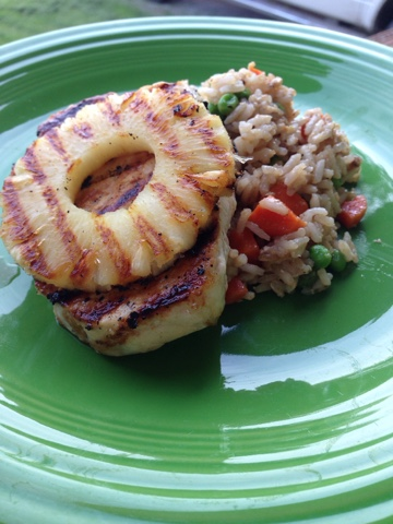 Married with pigs: Grilled Pineapple Pork Chops with Fried ...